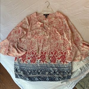 Style&Co flower print blouse top